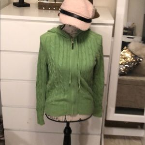 Green Zip Up Sweater